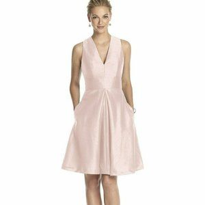 Alfred Sung Bridesmaid D610 Cocktail Dress Pink